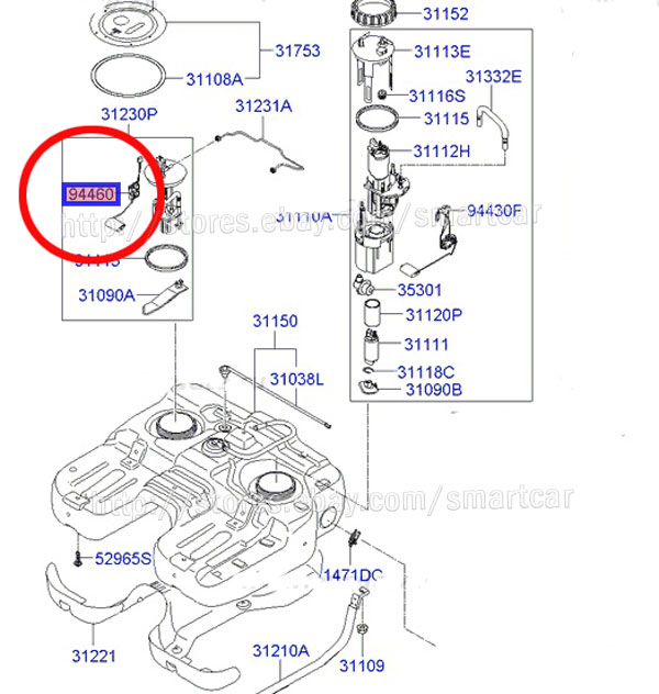 Hyundai Fuel Pump Diagram : Hyundai xg fuel filter get free image about